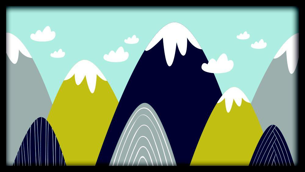 Quadro Montanhas e Nuvens
