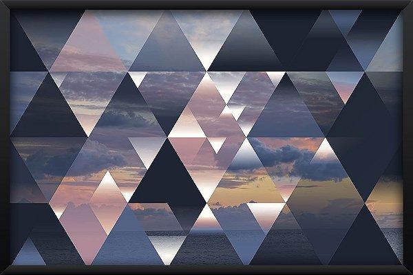 Quadro Mar com Triângulos