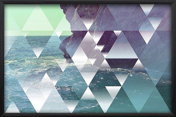 Quadro Oceano de Triângulos