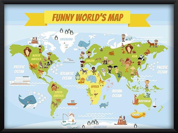 Quadro Funny World's Map