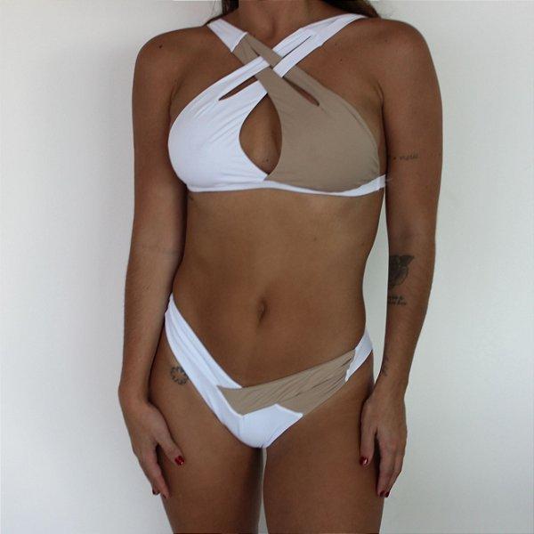 Cruzado Nude & Branco
