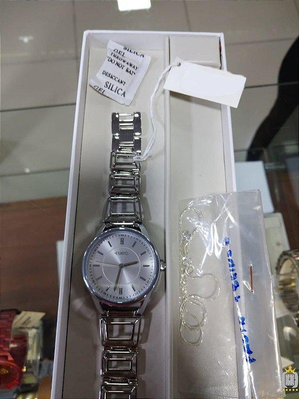 Relógio Feminino Euro - Kit - EU2035YEP-B3K