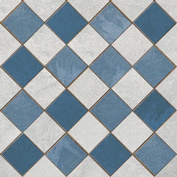 Porcelanato Porto Ferreira 25X25 Ovar Azul