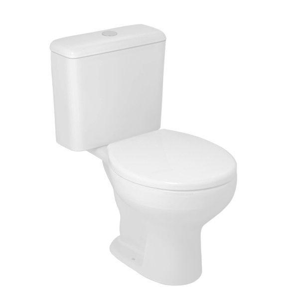 Vaso Sanitário com Caixa Acoplada 3/6L Azálea Branco Celite