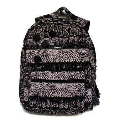 Mochila feminina estampa animal print
