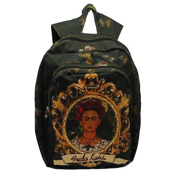 Mochila feminina estampa  Frida Kahlo