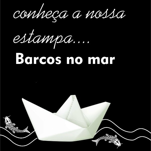 Estampa Barcos no mar
