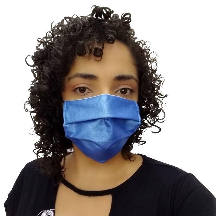 Máscara de Tecido Azul