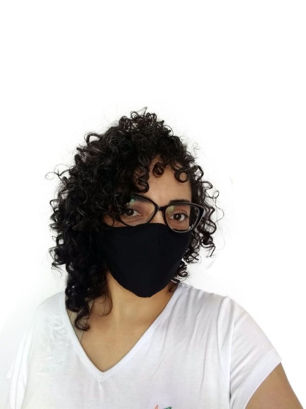 Máscara Tecido Preta
