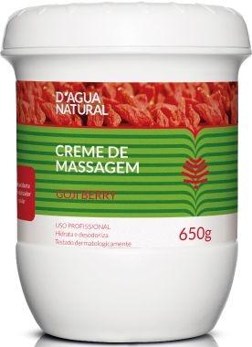 D'água Natural Creme de Massagem Goji Berry 650g