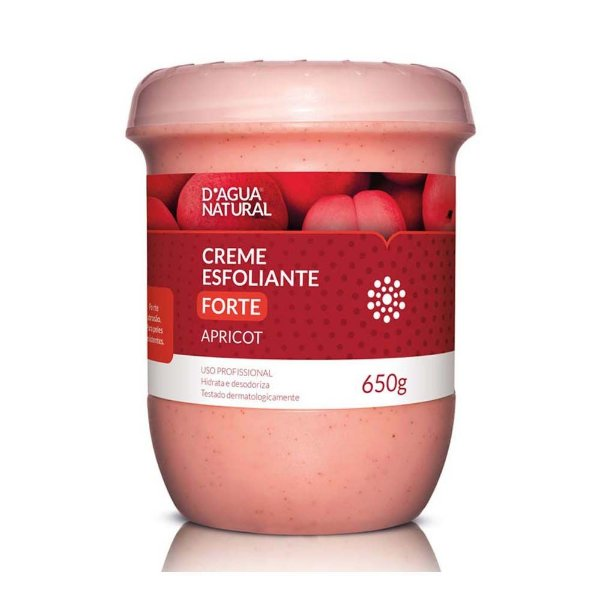 D'água Natural Esfoliante  Apricot Forte Abrasão 650g