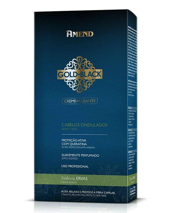 Amend Kit Creme Alisante Gold Black Essência Ervas