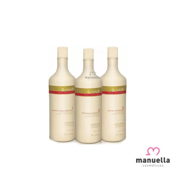 G HAIR KIT PROGRESSIVA 3 PASSOS 1L