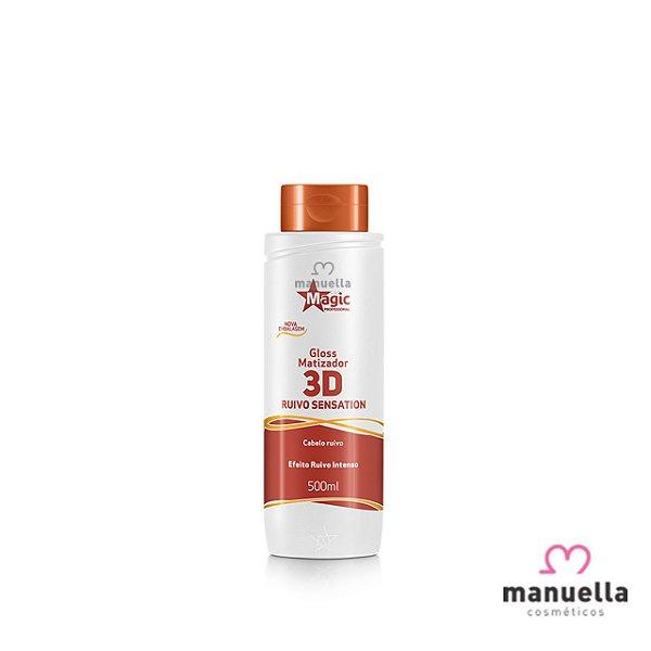 MAGIC COLOR GLOSS 3D RUIVO SENSATION 500ML