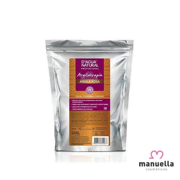 D'ÁGUA NATURAL ARGILA ROSA 500G