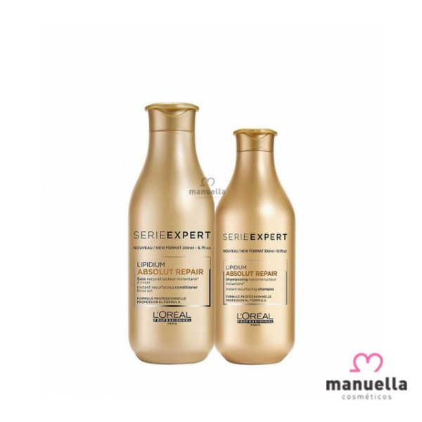 LOREAL SÉRIE EXPERT KIT ABSOLUT  REPAIR SHAMPOO 300ML + CONDICIONADOR 200ML