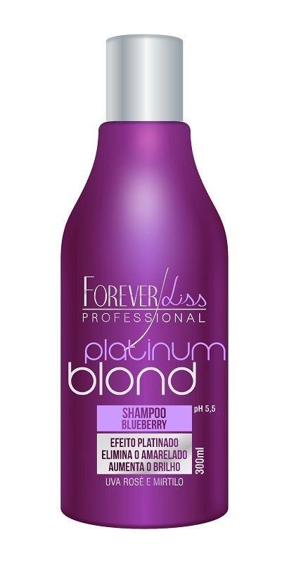 Shampoo Blond Platinum Matizador  Forever Liss 300 gramas