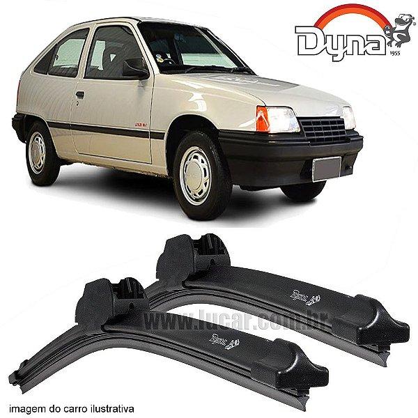 Palheta Limpador de Parabrisa Kadett de 1989 até 1997 da Dyna Modelo Slim Blade, O Par Dianteiro