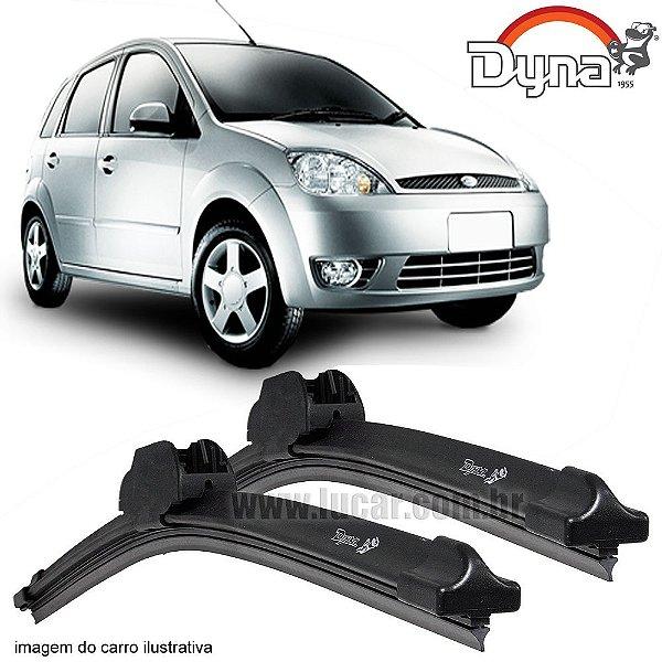 Palheta Limpador de Parabrisa Fiesta Hatch de 2005 até 2011 da Dyna Modelo Slim Blade, O Par Dianteiro