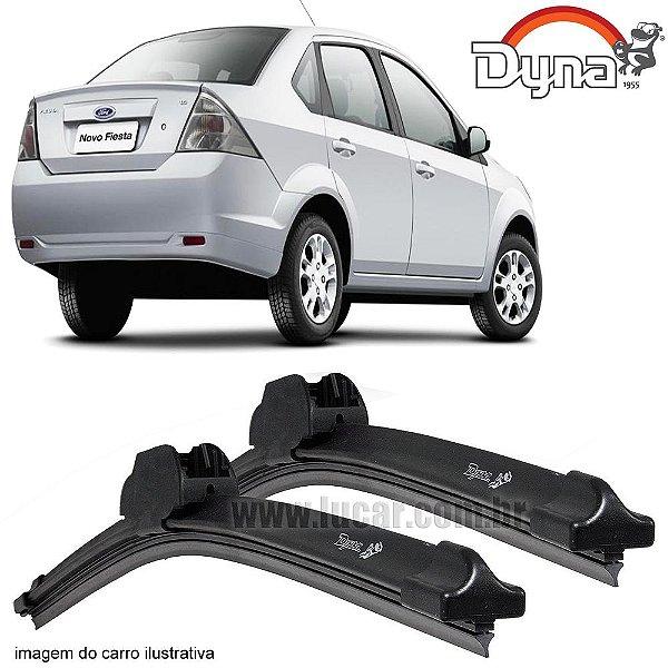 Palheta Limpador de Parabrisa Fiesta Sedan de 2005 até 2011 da Dyna Modelo Slim Blade, O Par Dianteiro