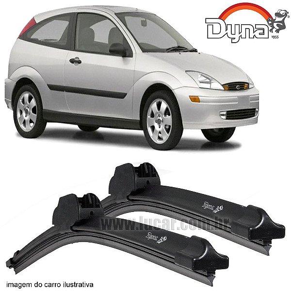Palheta Limpador de Parabrisa Focus Hatch e Sedan de 2000 até 2010 da Dyna Modelo Slim Blade, O Par Dianteiro