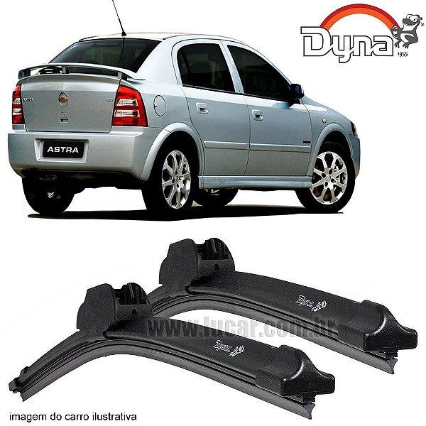 Palheta Limpador de Parabrisa Astra 2003 até 2011 da Dyna Modelo Slim Blade, O Par Dianteiro