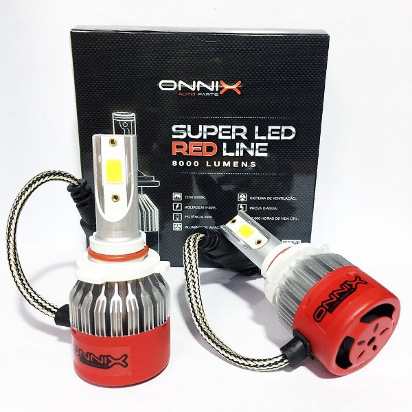 Kit Lâmpada Super Led Red Line Onnix HB4 8000 Lumens