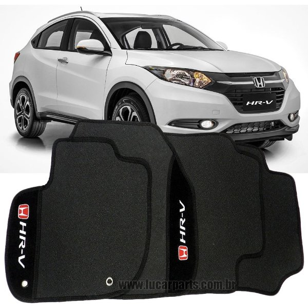 Tapete HR-V de Borracha c/ Carpete Bordado Personalizado