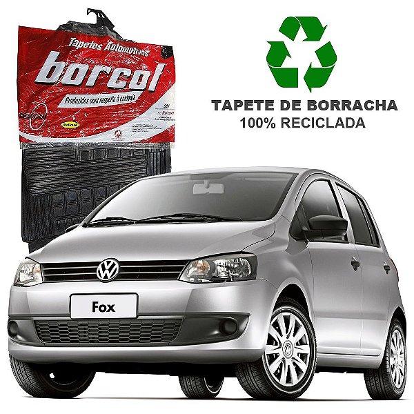 Tapete Borcol Fox 2003 em diante de Borracha Jogo c/ 4 Peças