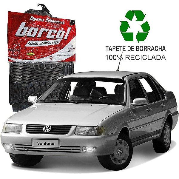 Tapete Borcol Santana e Quantum de Borracha Jogo c/ 4 Peças
