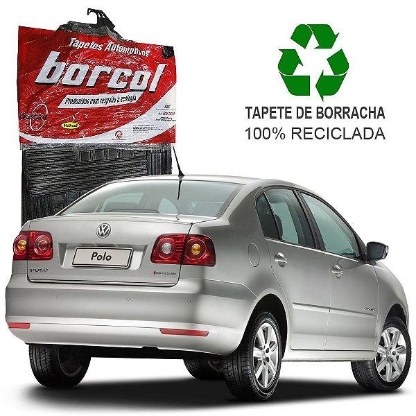 Tapete Borcol Polo Sedan de Borracha Jogo c/ 4 Peças
