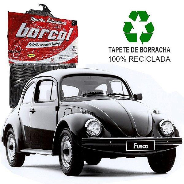 Tapete Borcol Fusca de Borracha Jogo c/ 4 Peças