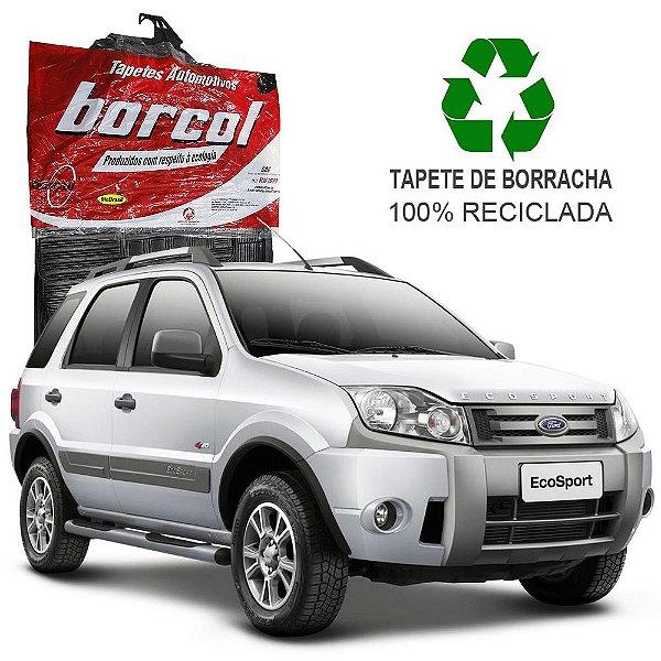 Tapete Borcol Ecosport 2003 a 2012 de Borracha Jogo c/ 4 Peças