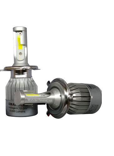 Kit Lâmpada Super Led Smart Tay Tech H4 8000 Lumens