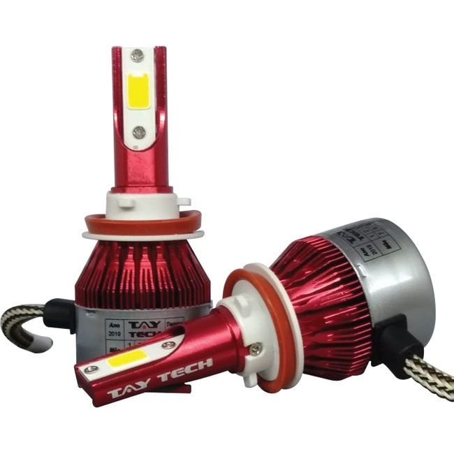 Kit Lâmpada Super Led Smart Tay Tech H11 8000 Lumens