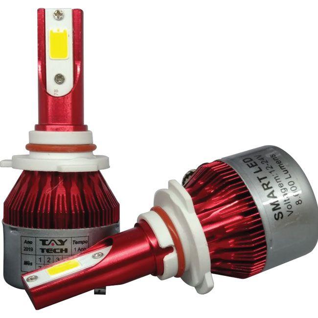 Kit Lâmpada Super Led Smart Tay Tech HB3 8000 Lumens