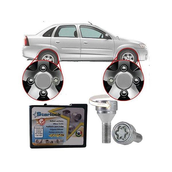 Trava Antifurto Anti Roubo de Roda Parafuso Porca Farad Starlock Chevrolet Corsa
