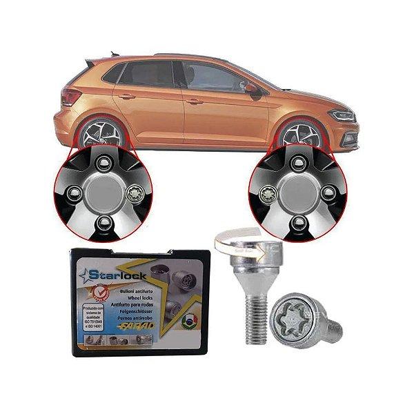 Trava Antifurto Anti Roubo de Roda Parafuso Porca Farad Starlock Volkswagen Polo 2002 à 2019