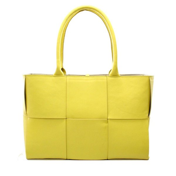 Bolsa Feminina Trissê Couro Amarelo