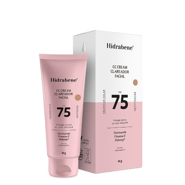 CC Cream Clareador Facial FPS 75 40g - Hidrabene