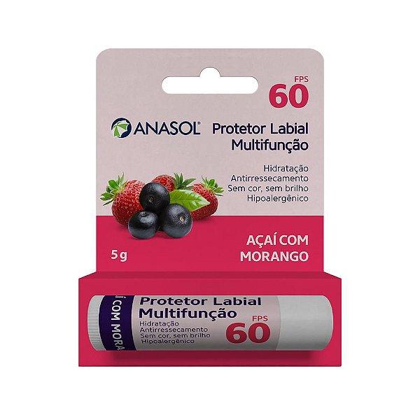 Protetor Labial Açaí com Morango  5 g - Anasol