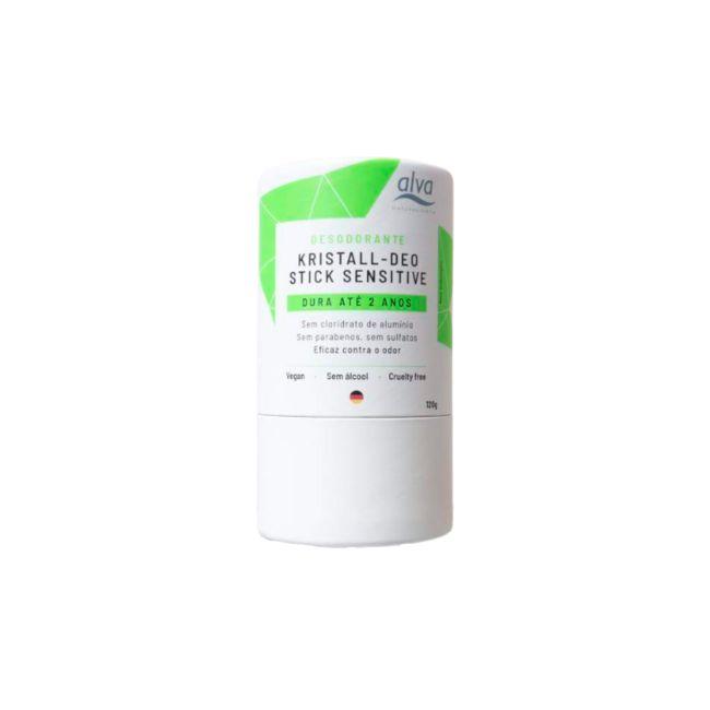 Desodorante Stick Kristall Sensitive (embalagem de papel) - 120g - Alva