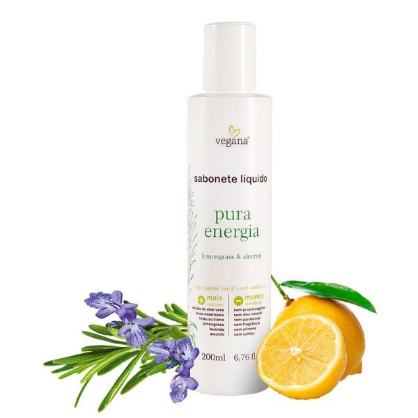 Sabonete Vegetal Pura Energia 200Ml - Vegana