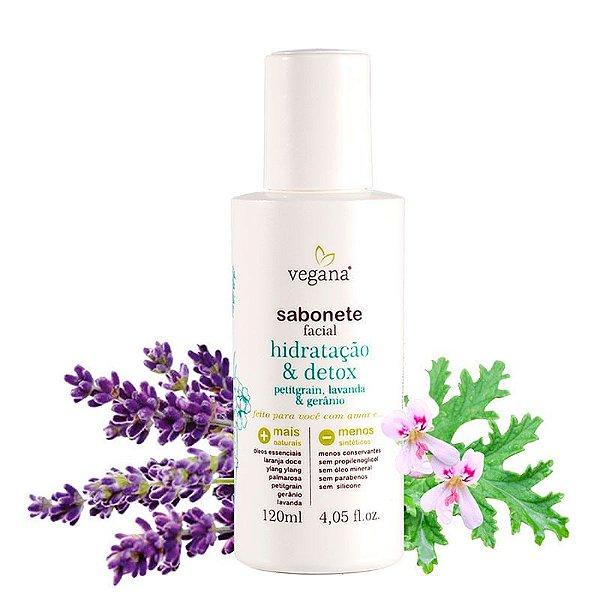 Sabonete Facial Hidratacao E Detox 120Ml - Vegana