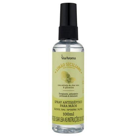 Spray Antisséptico Para Mãos - Limão Siciliano