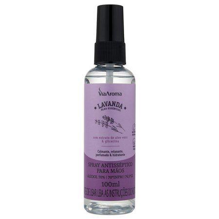 Spray Antisséptico Para Mãos Lavanda - Via Aroma