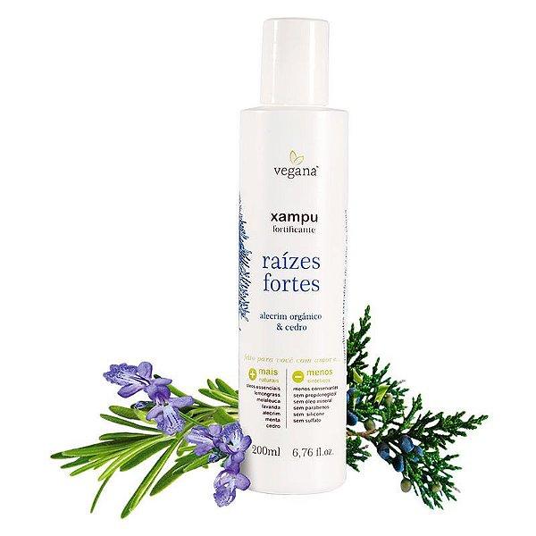 Shampoo Raizes Fortes Alecrim 200Ml - Vegana