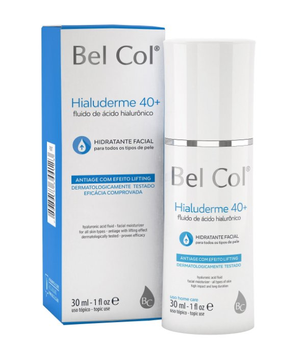 Hialuderme 40+ Fluido de Ácido Hialurônico 30 ML - Bel Col