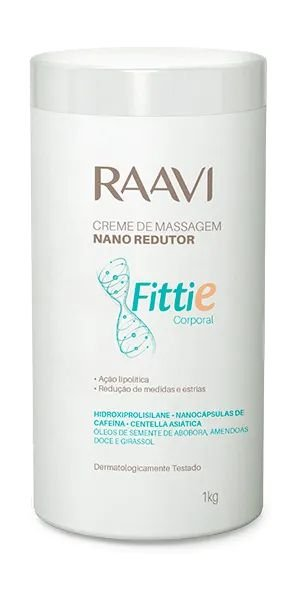 Creme de Massagem Nano Redutor Fitie 1kg - Raavi