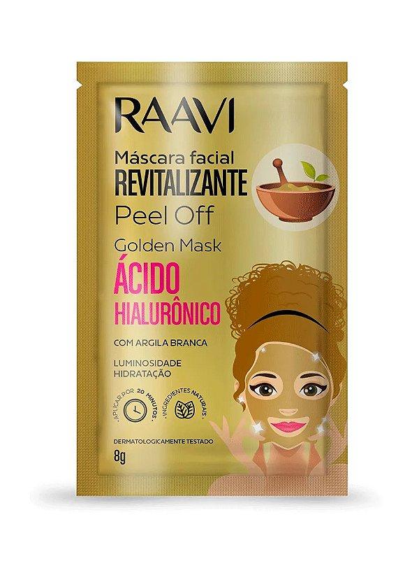 Sachê Máscara Facial Revitalizante Peel Off Golden Mask com Ácido Hialurônico 8g - Raavi